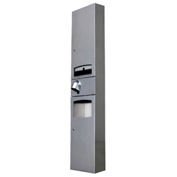 Disabled Paper Towel Dispenser, Hand Dryer & Waste Receptacle - Surface Mounted
